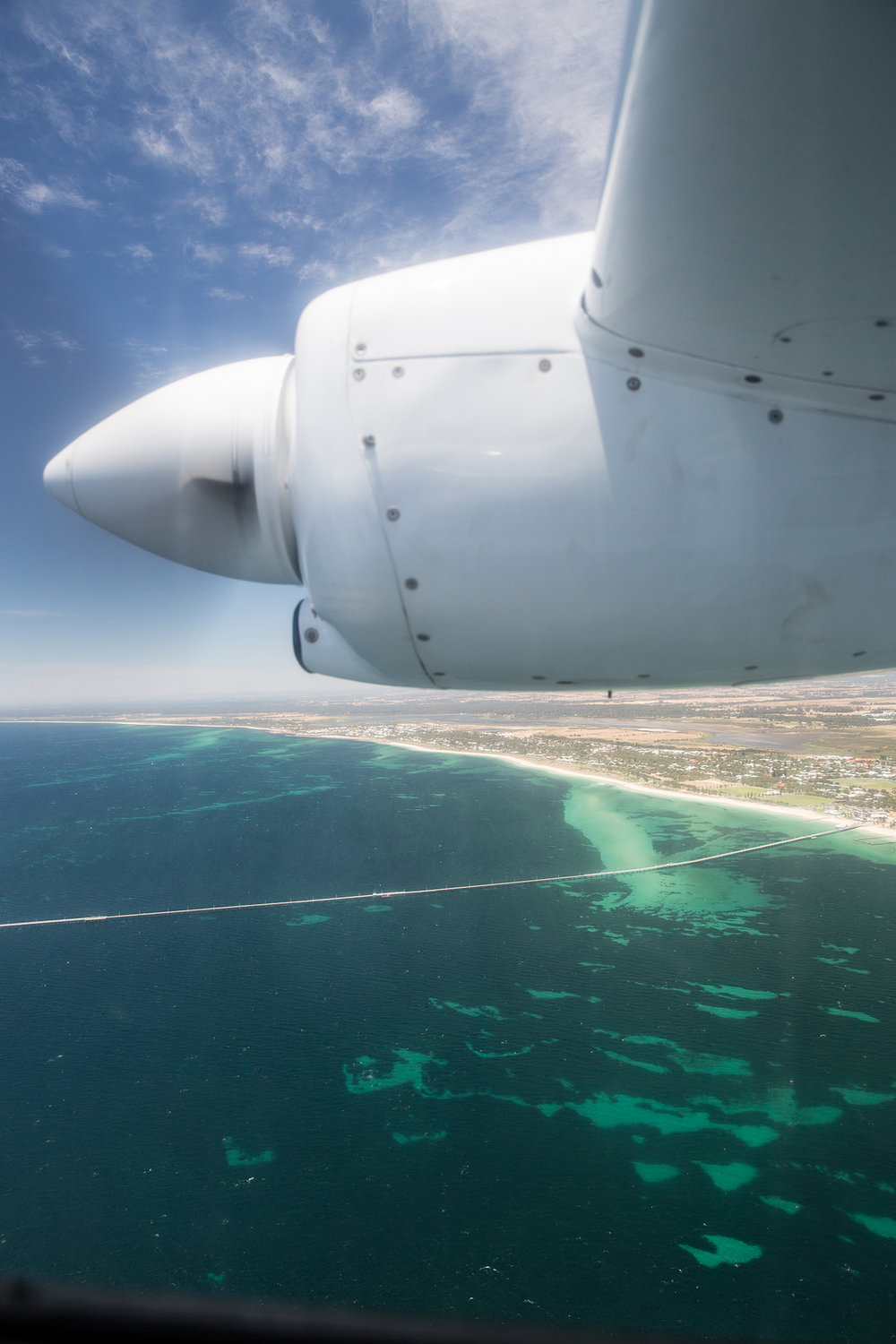 Scenic views over Busselton with Westward Aviation.
