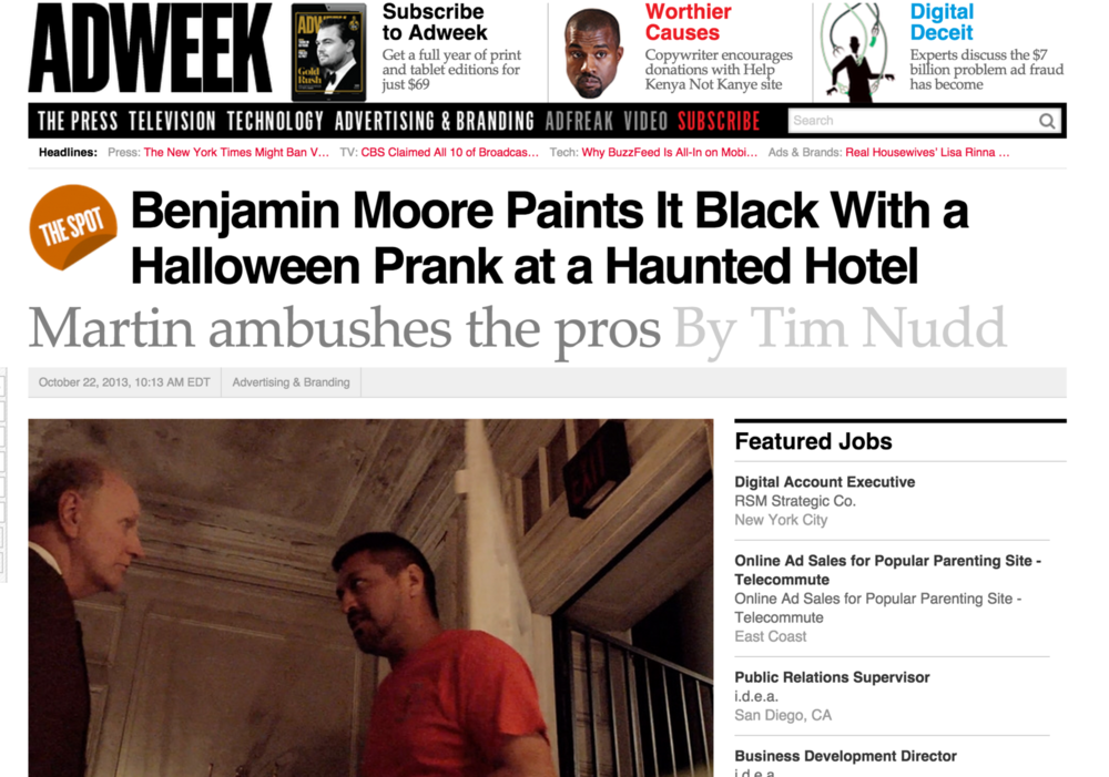 Benjamin Moore Paints It Black With a Halloween Prank at a Haunted Hotel