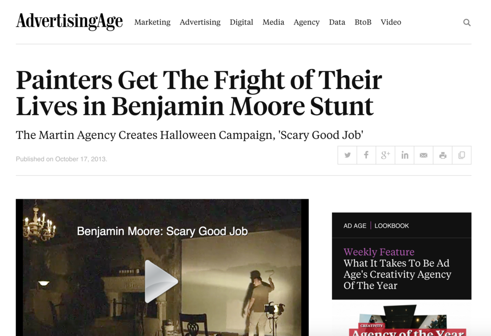Painters Get The Fright in Benjamin Moore Stunt