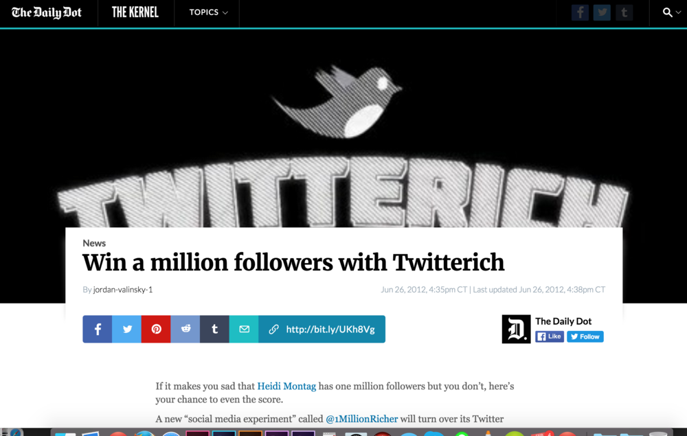 Win a million followers with Twitterich