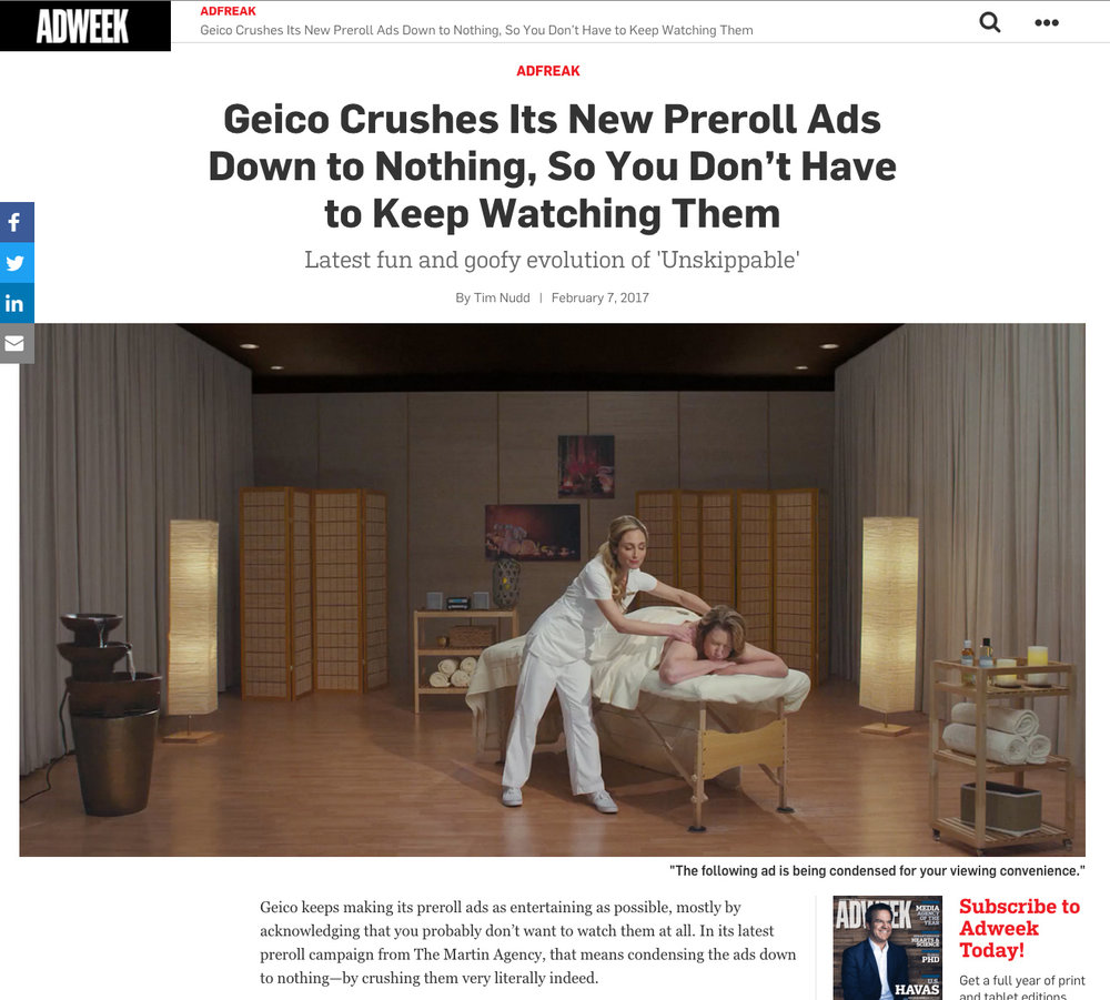 Geico Crushes Its New Preroll Ads Down to Nothing