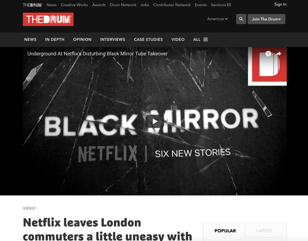 VIDEO Netflix leaves London commuters a little uneasy with Black Mirror tube station take over