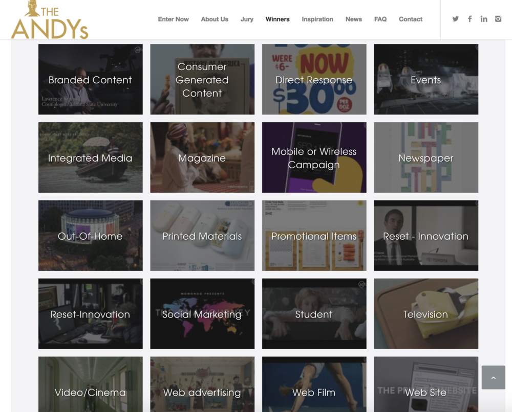 Condensed Ads wins Andy Awards