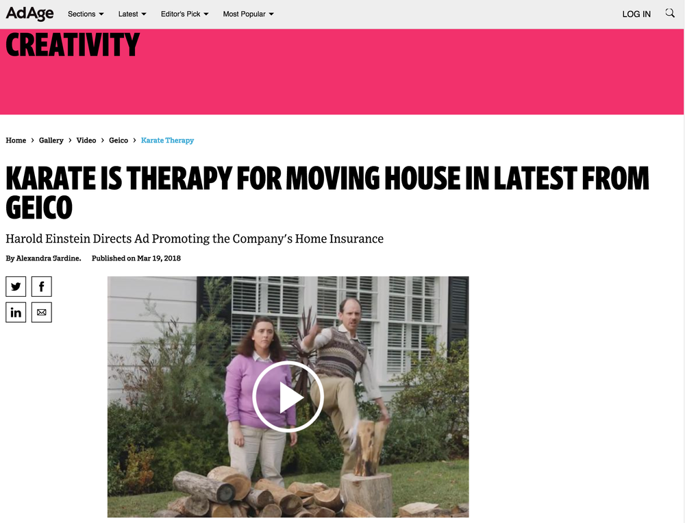 Karate is Therapy for Moving House in Latest from GEICO