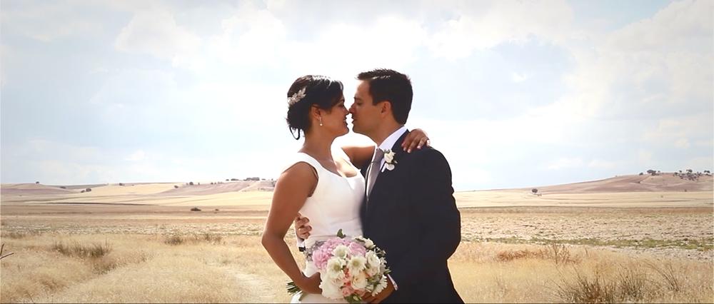 Frame del vídeo de boda de J+C