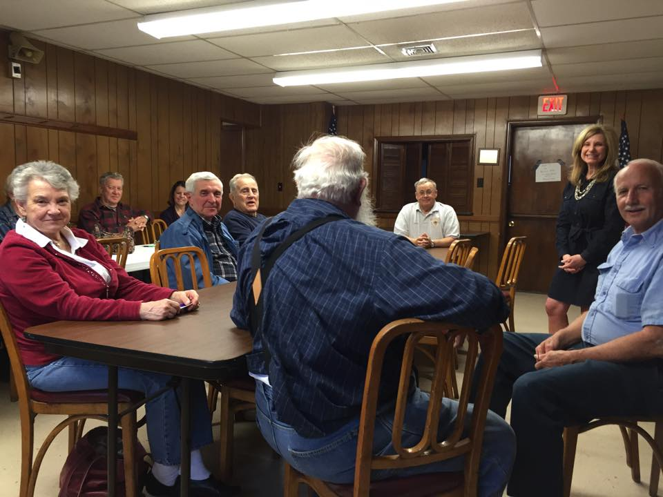 April 7, 2015 -  Enjoyed meeting with the Masons Cove Civic League tonight. Good people and good conversation!
