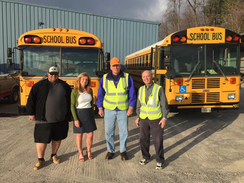 March 28, 2015 -  Enjoyed visiting with the bus drivers who serve the Glenvar community! They do an awesome job transporting our students and so much more!