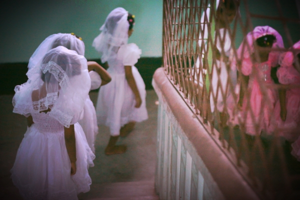 Our precious girls taking daily steps of freedom at Akhi's Place