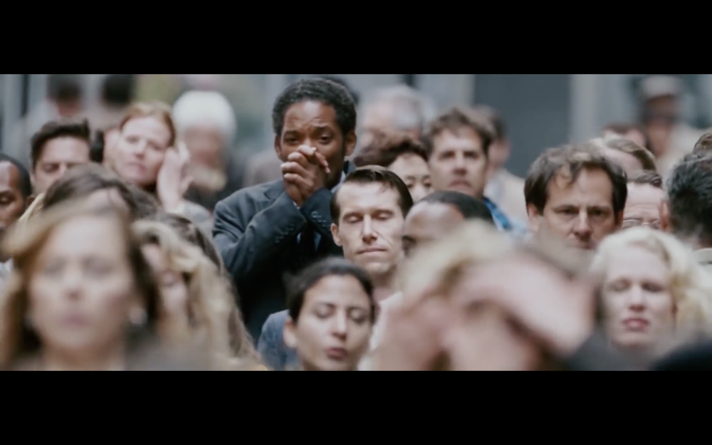 Screenshot from the film Pursuit of Happyness. A Cinefade could be used on this shot to communicate a new beginning.
