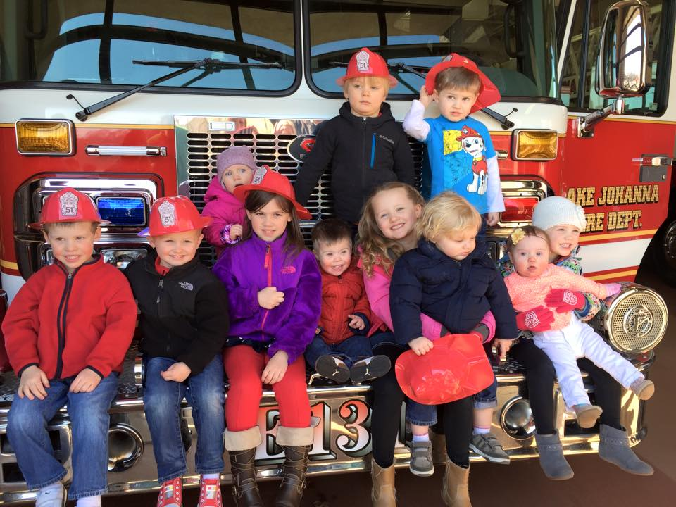 Our crew at the fire station!
