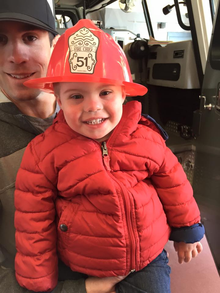 Look at that handsome fireman!