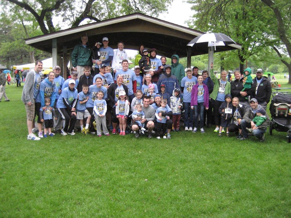Our 2014 Jogging for Jack team!  We love you all and so thankful for you!