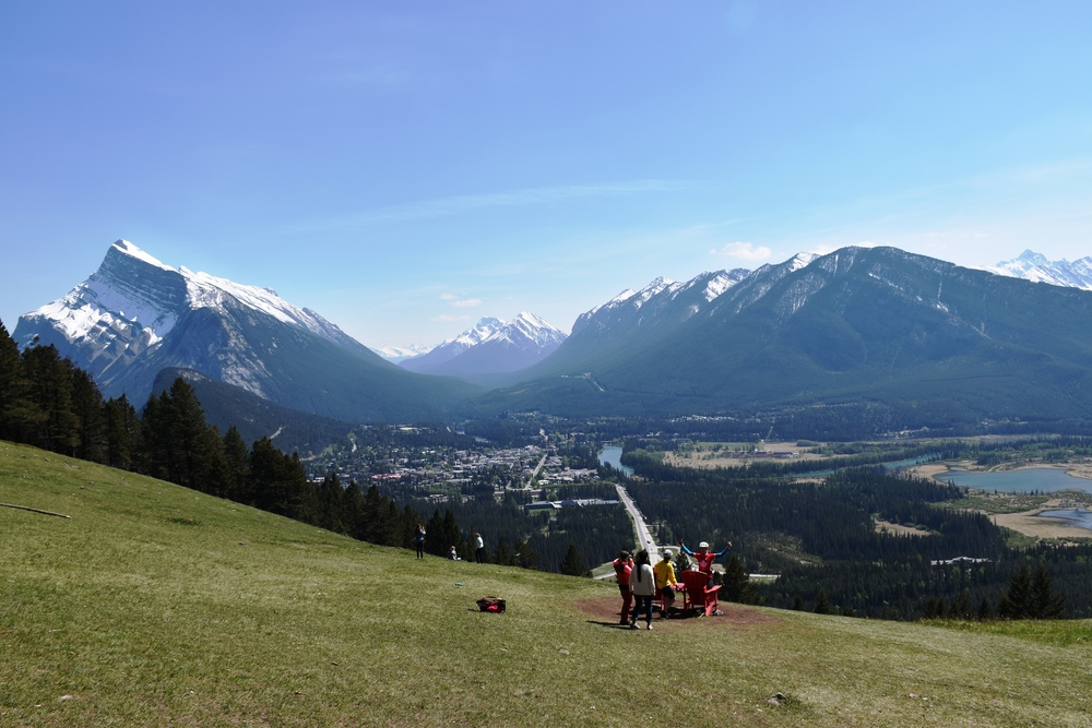 Banff Townsite from the Norquay Red Chairs