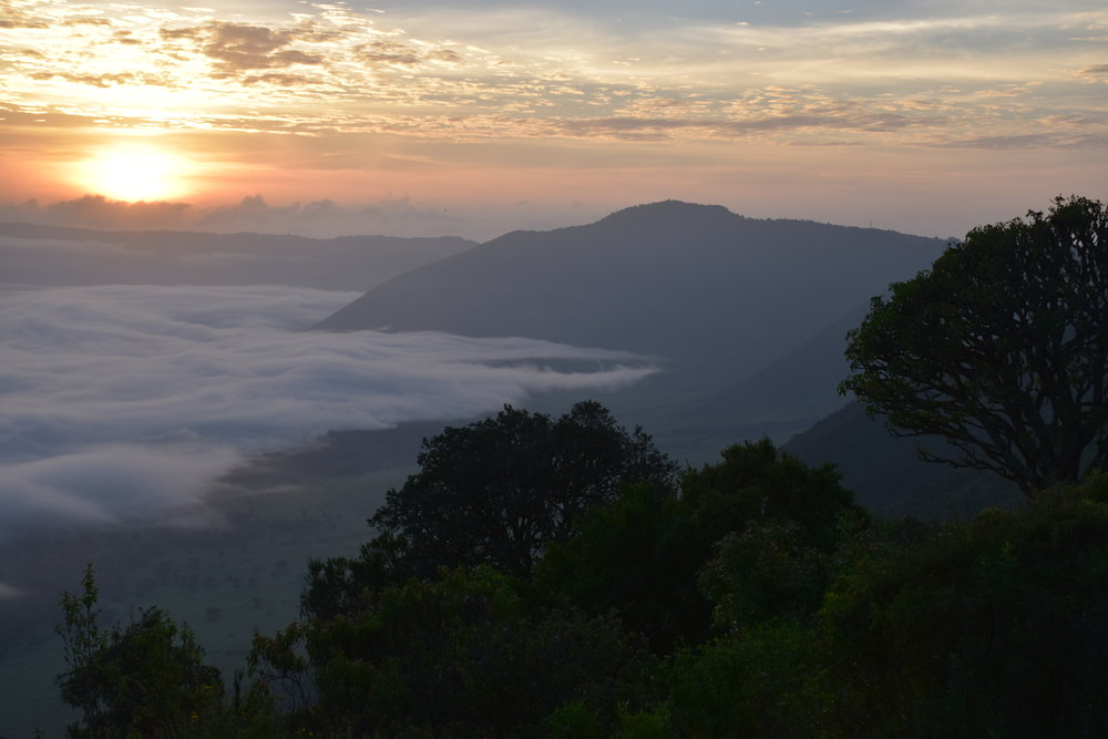 Ngorongora Crater at sunrise