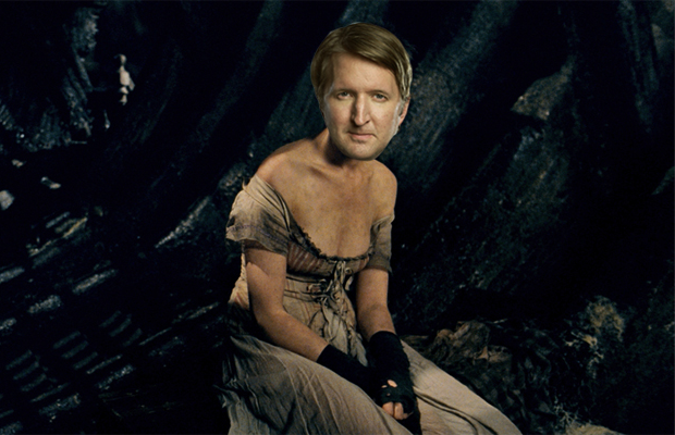 Tom Hooper as Anne Hathaway in Les Miserables