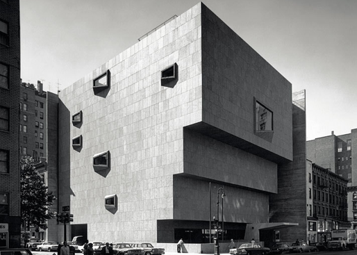 BRUTALIST:  Marcel Breuer, Whitney Museum of American Art, Manhattan, New York, 1966. Art Forum.