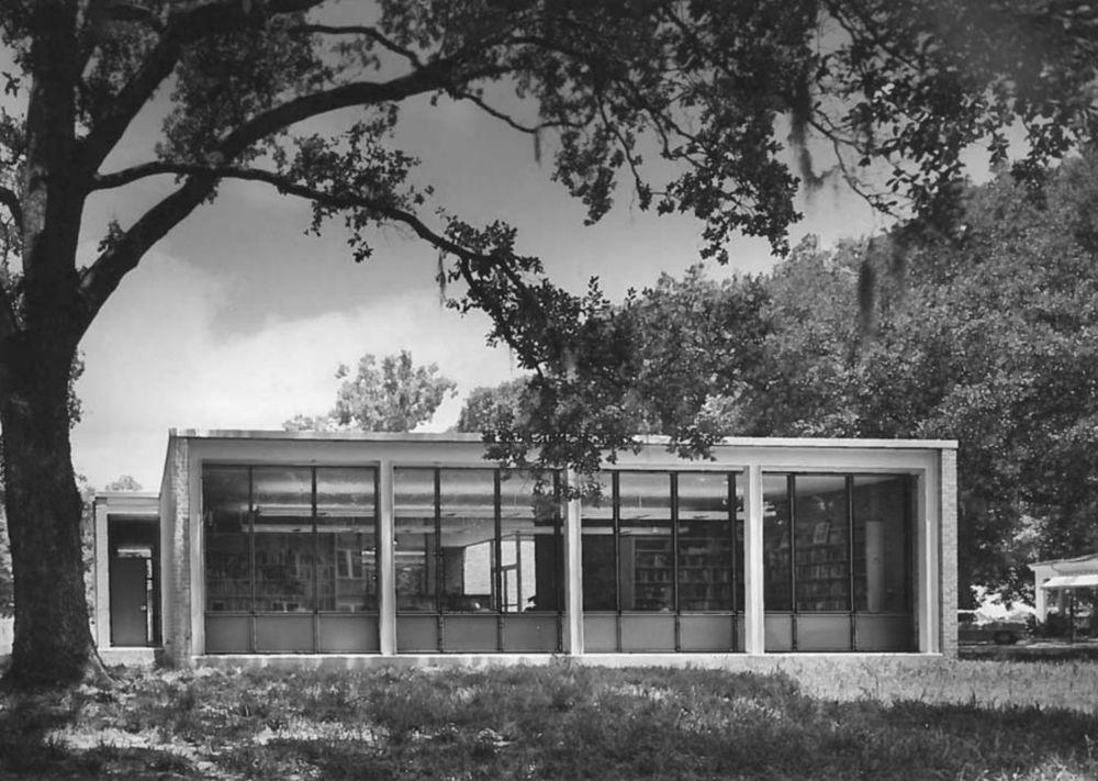John Desmond, miller memorial library, 1957, hammond, la, John Desmond Papers, Louisiana and Lower Mississippi Valley Collections, LSU Libraries.