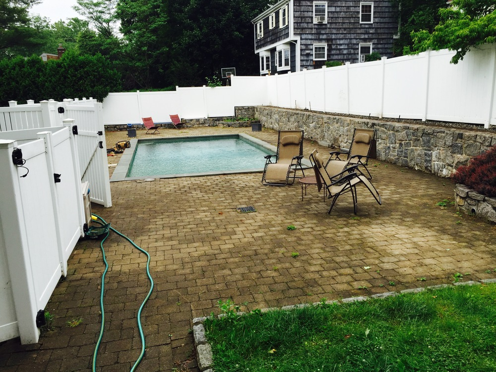 BEFORE PICTURE: The start of a pool renovation project in Westchester, NY