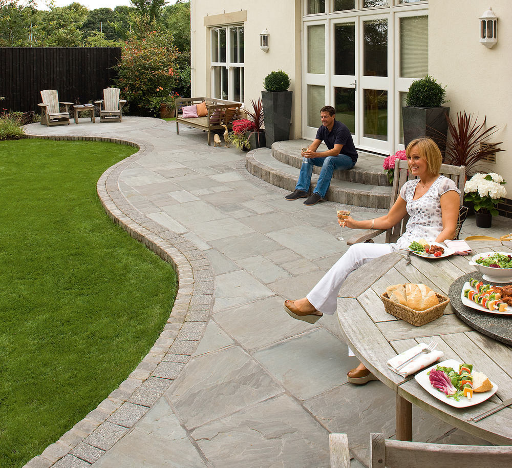 Image by Unilock picturing the Fairstone natural stone paver.