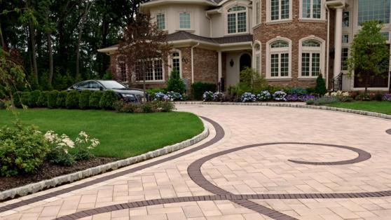Unilock pavers on a driveway