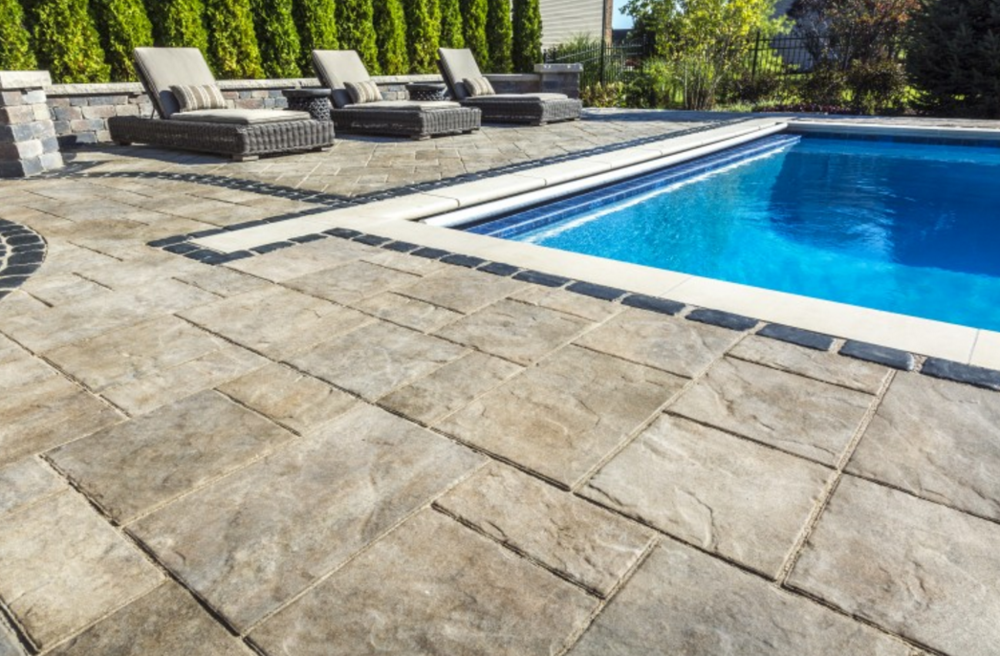 Top 3 patio pavers to use as a border or accent with Flagstone pavers around pool