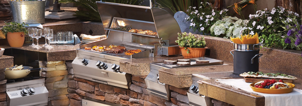 Fire Magic Grill as part of a complete outdoor kitchen design. Photo: Fire Magic