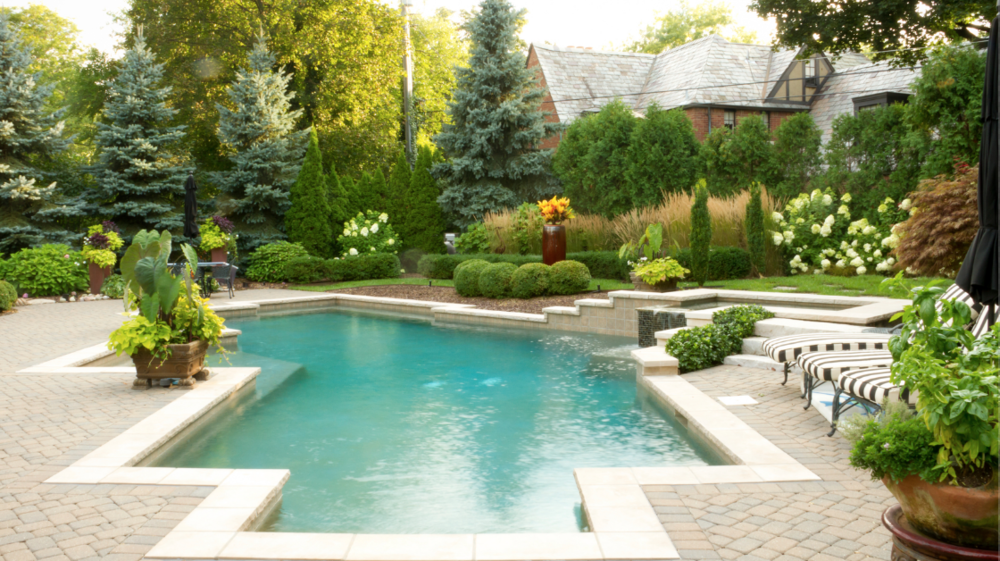 swimming pool landscape design dutchess county, ny