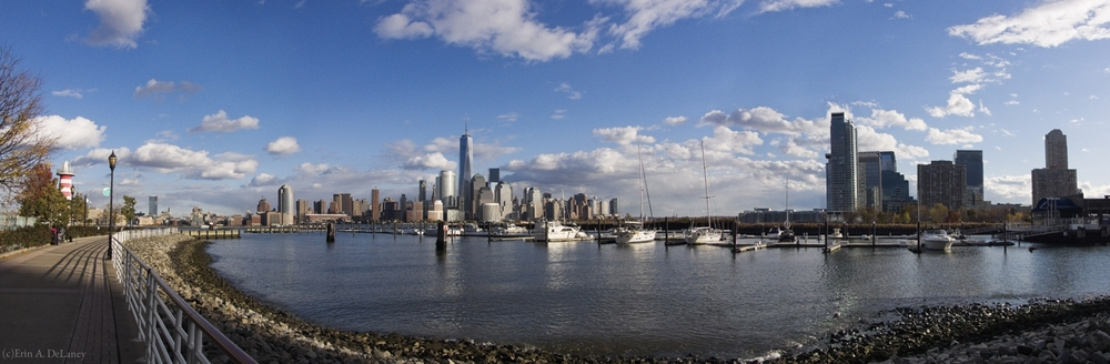 Manhattan and Jersey City Skyline Harbor View, 2013