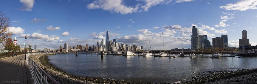 Manhattan and Jersey City Skyline Harbor View, 2013