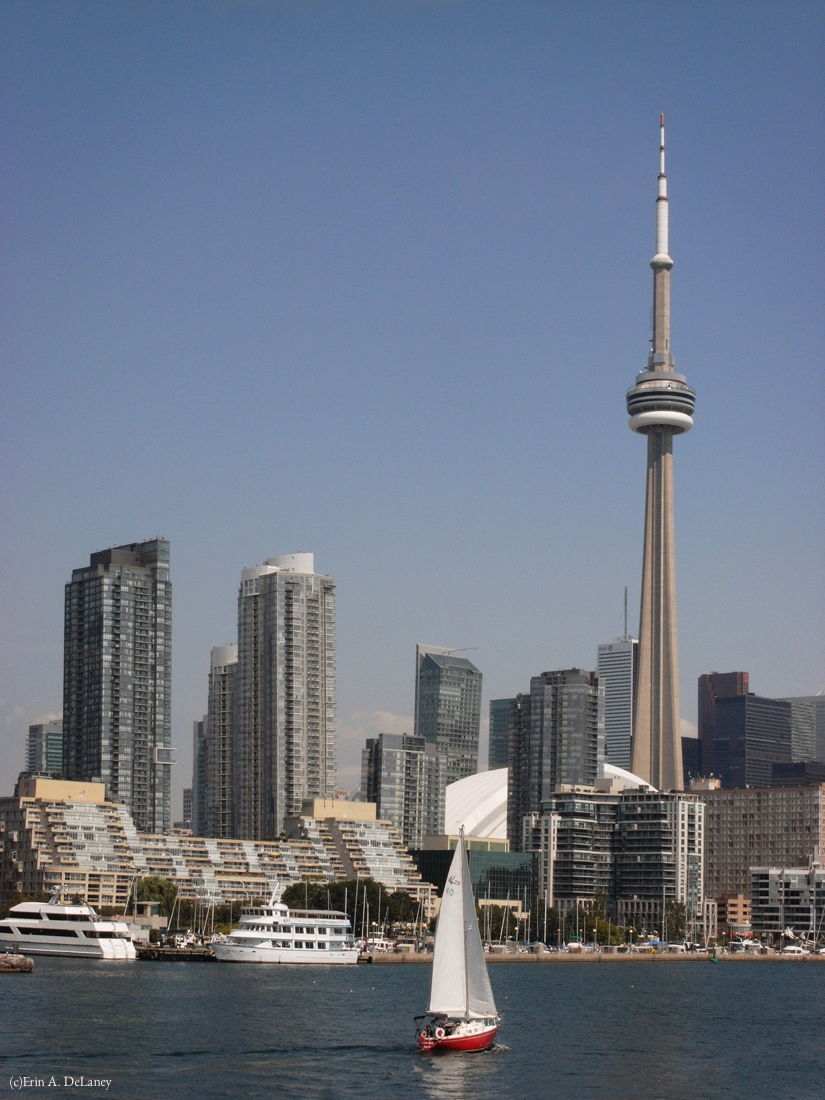 Toronto Harbour Skyline with Red Boat, 2012