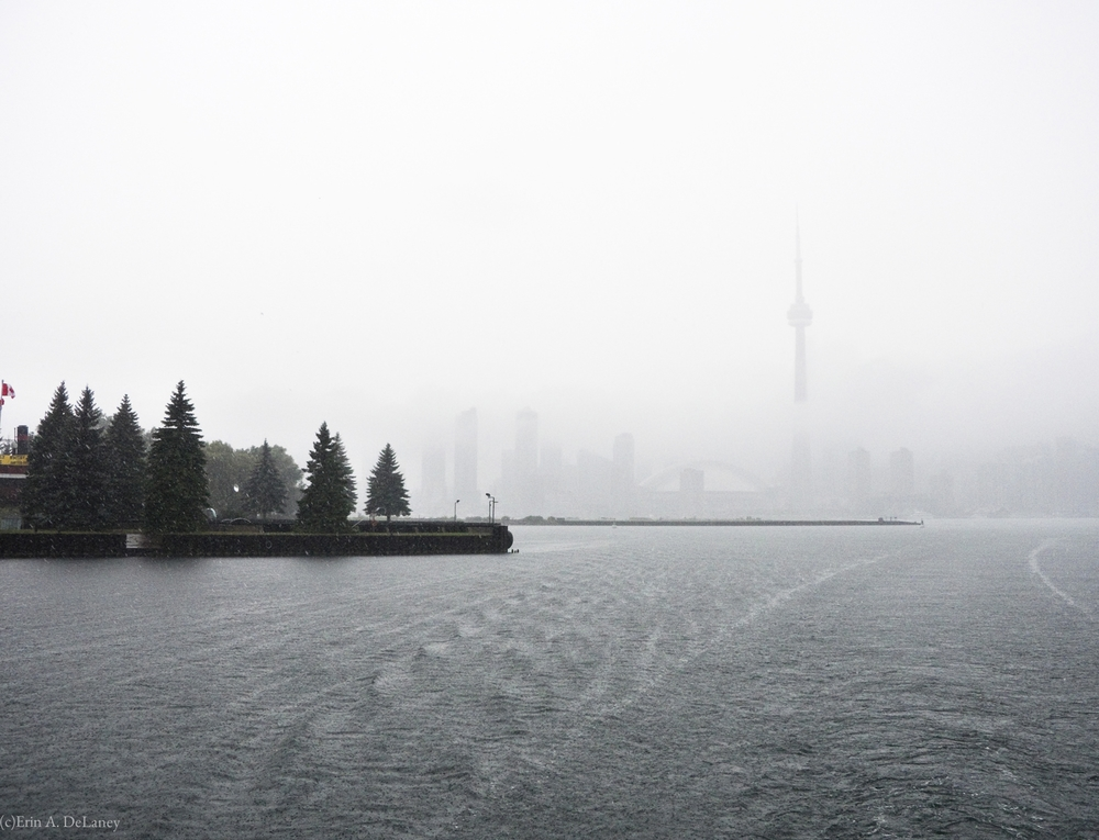 Toronto Harbour Skyline in the Rain, 2012