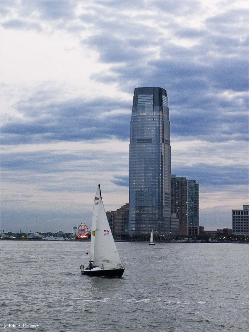 Jersey City Waterfront with Sailboats, 2014