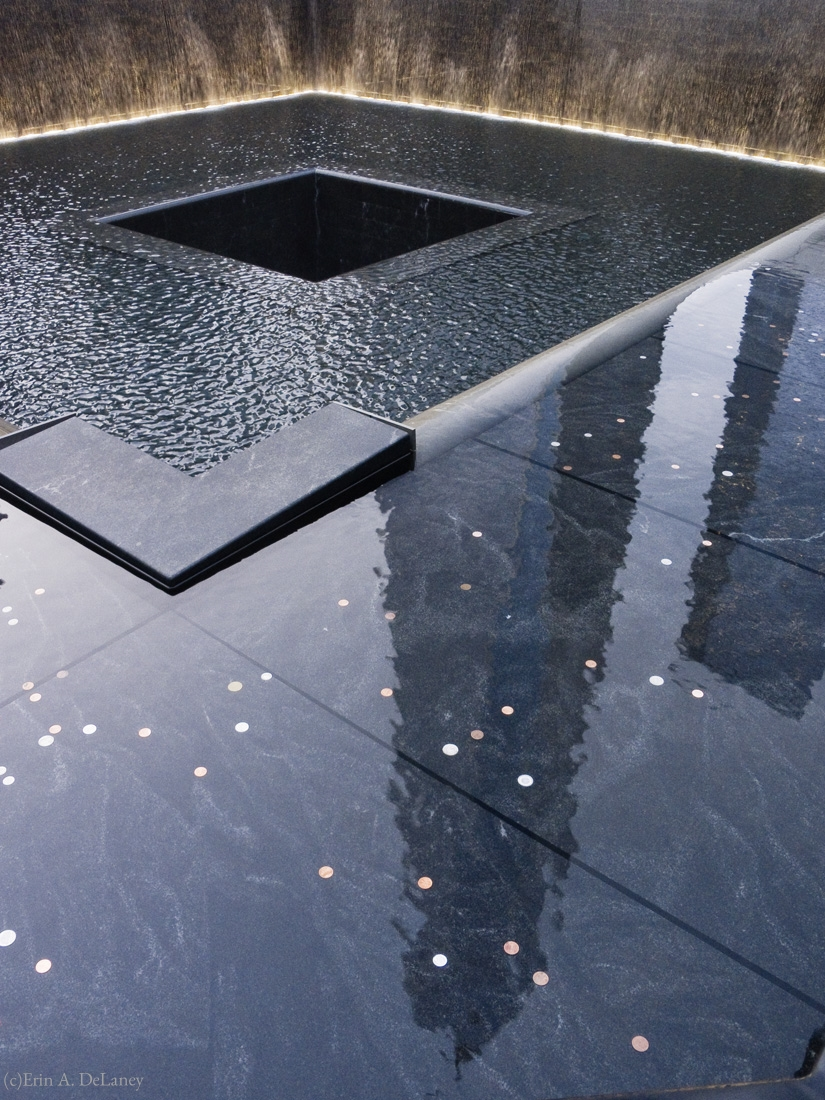 World Trade Center Memorial Reflection, South Tower Pool, New York City, 2014