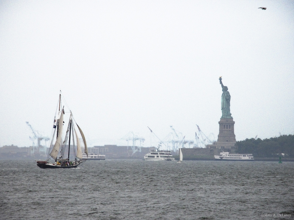 New York Harbor in Fog, 2013
