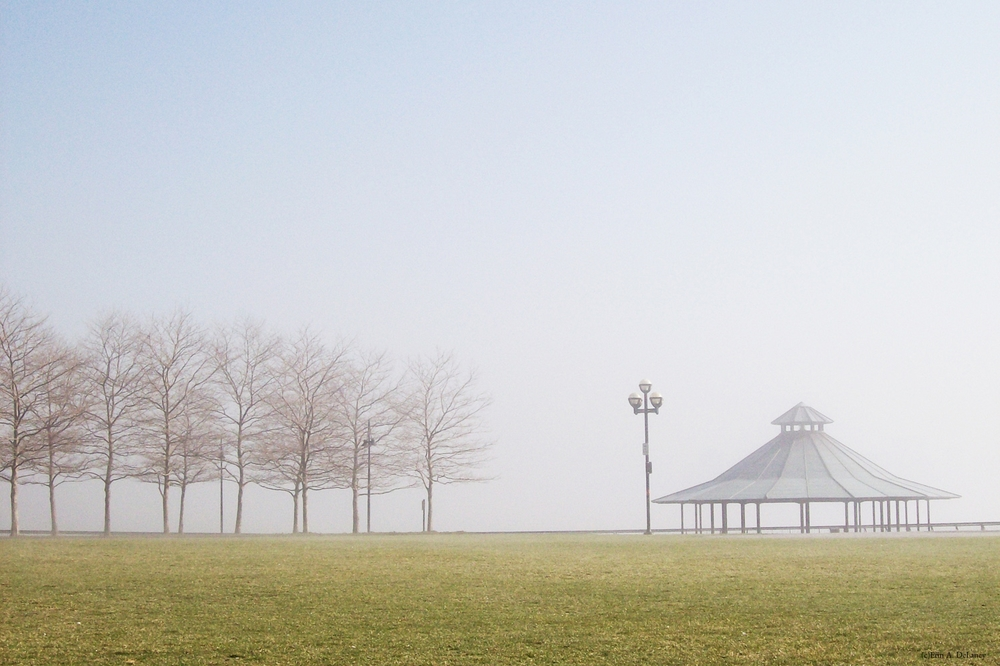 Gazebo on a Misty Winter Day, 2008