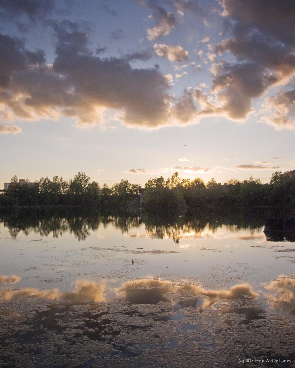 Sunset Reflections JC Reservoir, 2015