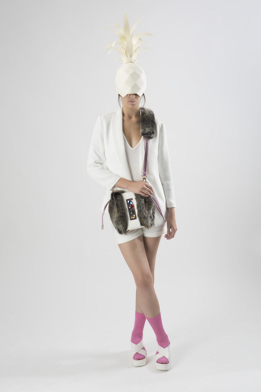 FruitenVeg-NAMI bag-never-leather-artificial-fur-vegan-leather-gray-pink-rhinestones-cross-body-bag-nyc