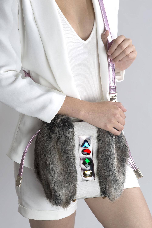 FruitenVeg-NAMI bag-never-leather-Peta-approved-vegan-faux-fur-designer-cross-body-handbag-nyc