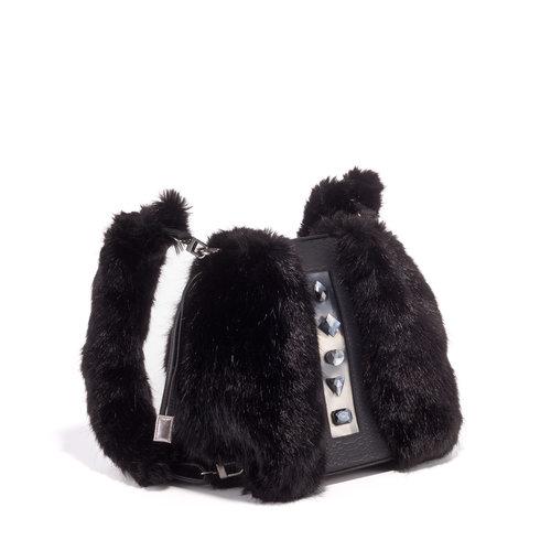 FruitenVeg-KULU bag-vegan-faux fur satchel-fake-fur-luxury 10b04b151703e