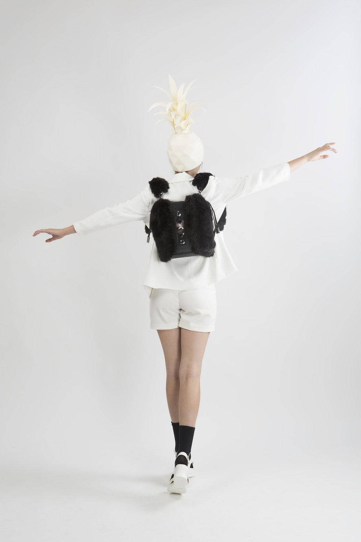 FruitenVeg-KULU bag-vegan-artificial-fake-fur-high-end-large-black-rhinestones-new-york-handbag-designer