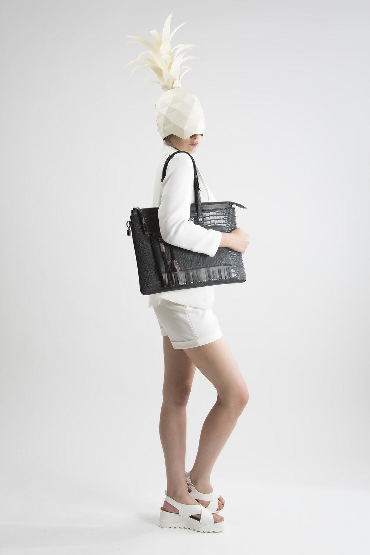 FruitenVeg-MULAYA bag-eco-imitation-vegan leather-black-rhinestones-large-designer-laptop-tote-bag-nyc