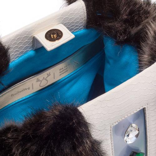 KULU multicolor — FruitenVeg vegan leather•faux fur bag 1ab15ea67a308