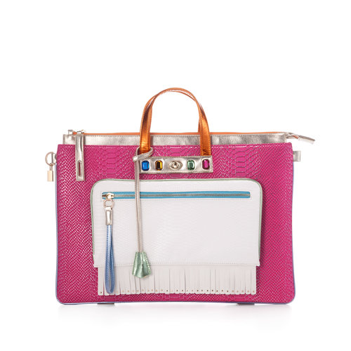 MULAYA Backpack multicolor — FruitenVeg vegan leather•faux fur bag bef07ab8293fe