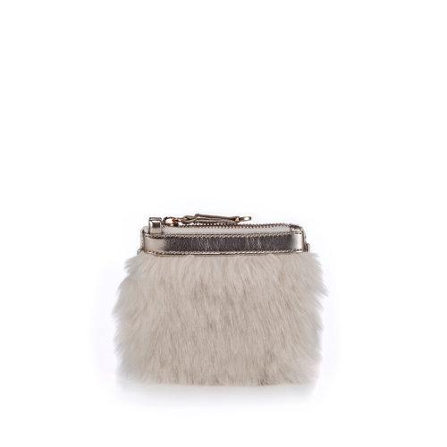 NAMI white — FruitenVeg vegan leather•faux fur bag a12fd2ab4ce37