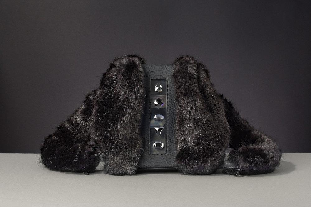 FruitenVeg KULU bag-faux fur satchel bags-never leather-never fur