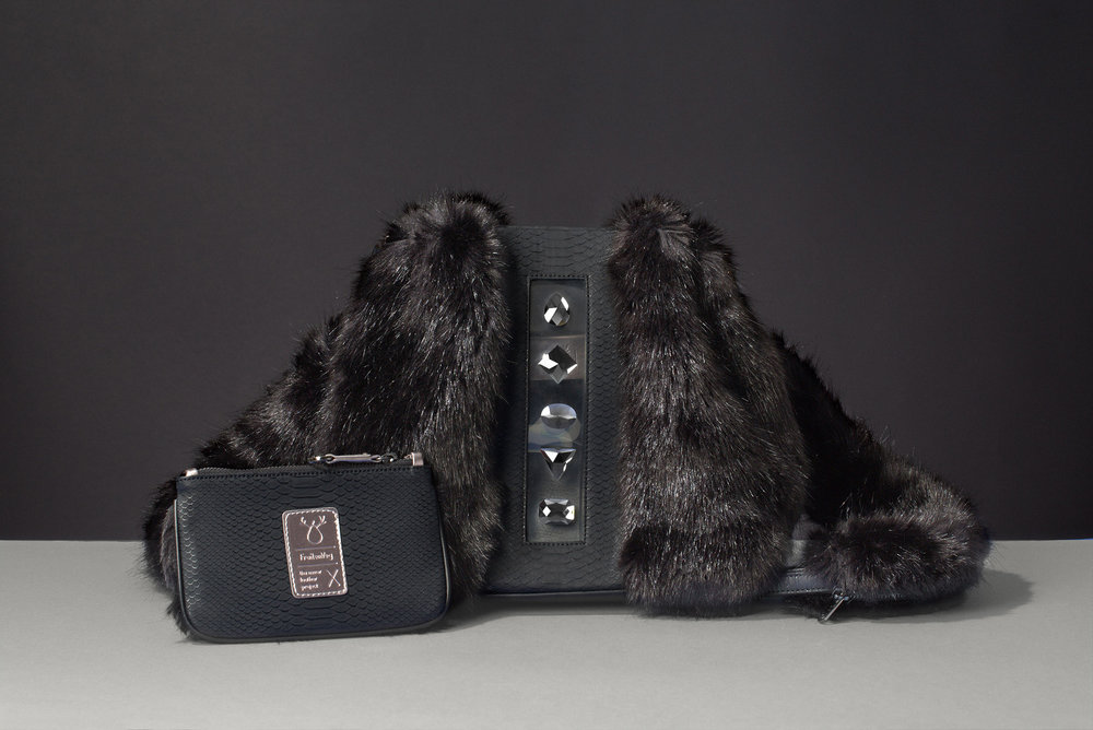 FruitenVeg-KULU bag-vegetarian-faux fur satchel bag-fake fur-black-rhinestones-luxury-backpack-new-york-handbag-designer.jpg
