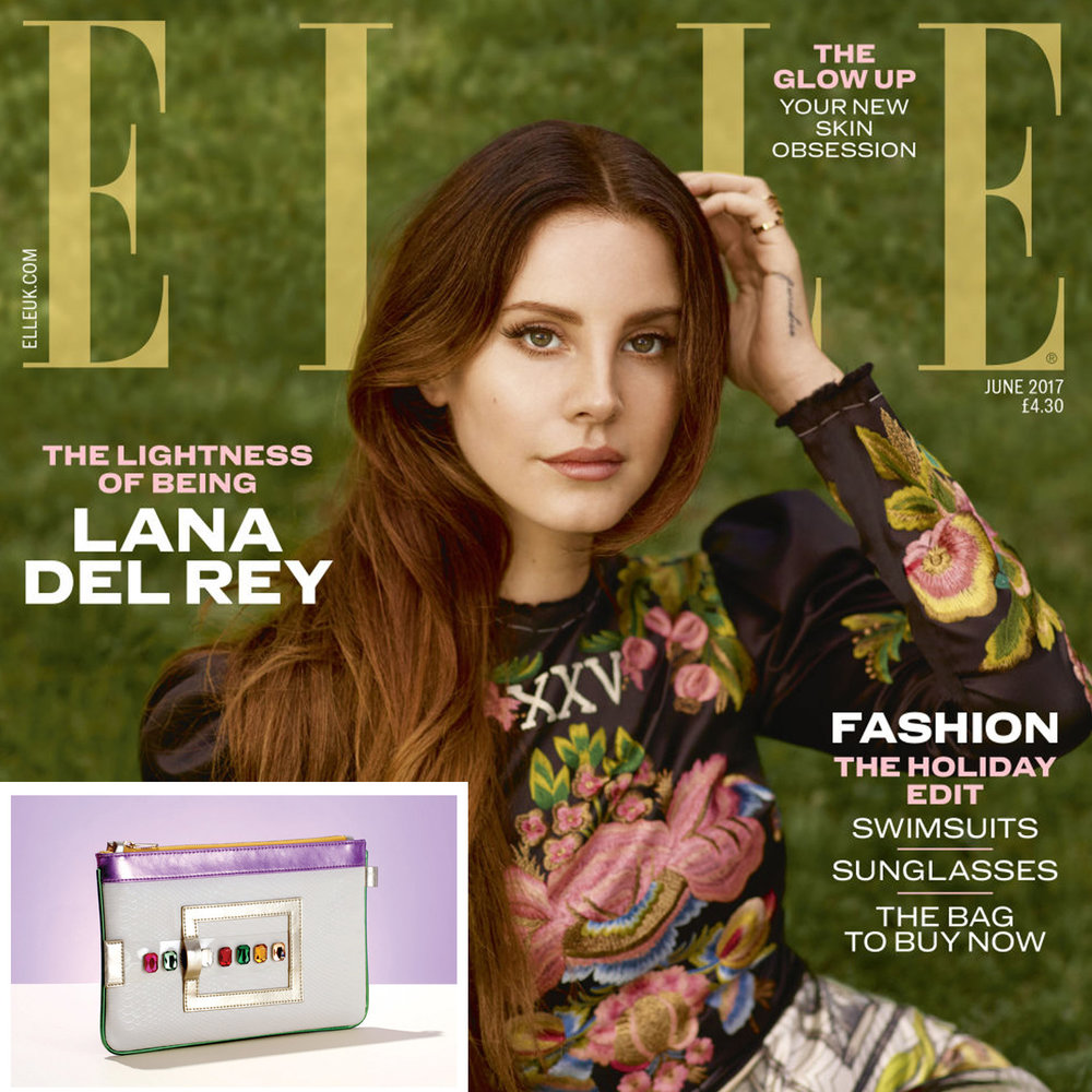 FruitenVeg GEMINI vegan leather IPad clutch in ELLE UK June 2017