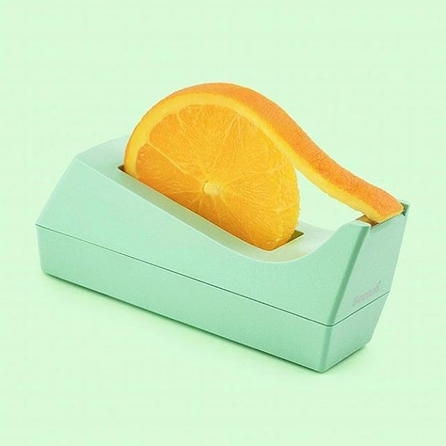 Tape it🍊 by @paulfuentes_design @fuentes_studio 🍊💛🍊#orange #tape #veganart #fruit #neverleather #neverfur @fruitenveg