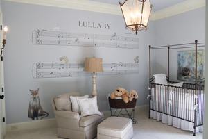 brahms' lullaby nursery mural for kings' chapel parade of homes 2014