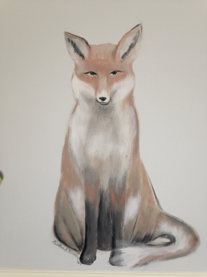 Brahms' lullaby mural detail: fox